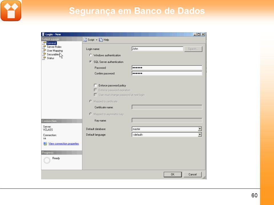 Segurança em Banco de Dados 60