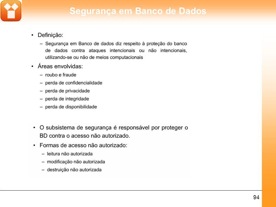 Segurança em Banco de Dados 94
