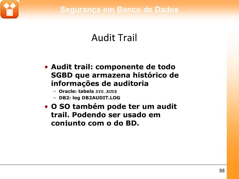 Segurança em Banco de Dados 98