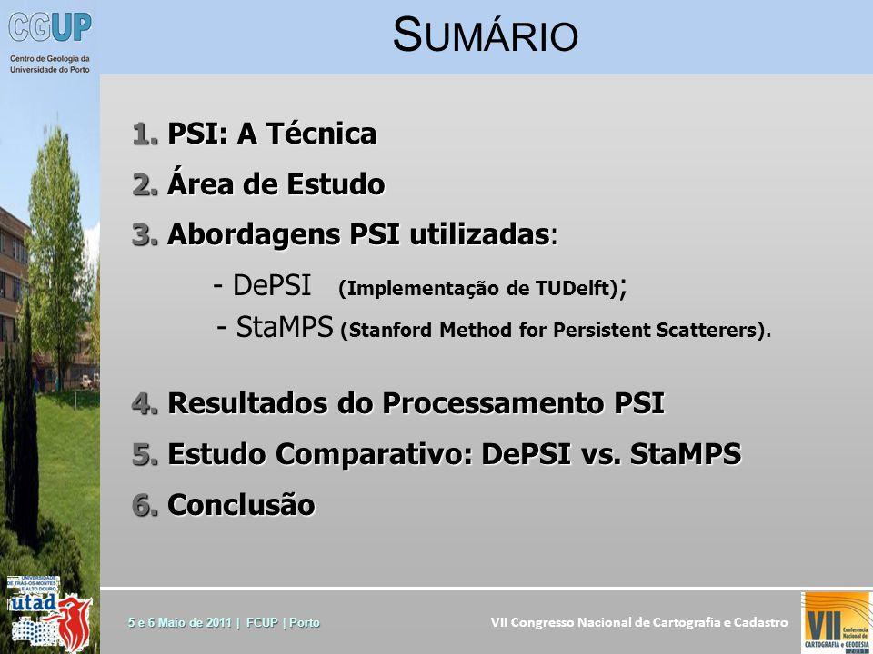 VII Congresso Nacional de Cartografia e Cadastro 5 e 6 Maio de 2011 | FCUP | Porto 1.