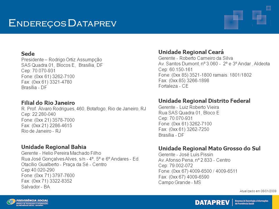 Sede Presidente – Rodrigo Ortiz Assumpção SAS Quadra 01, Blocos E, Brasília, DF Cep: 70.070-931 Fone: (0xx 61) 3262-7100 Fax: (0xx 61) 3321-4780 Brasí