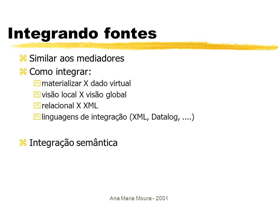 Ana Maria Moura - 2001 Extraindo informação Mediador wrapper.....