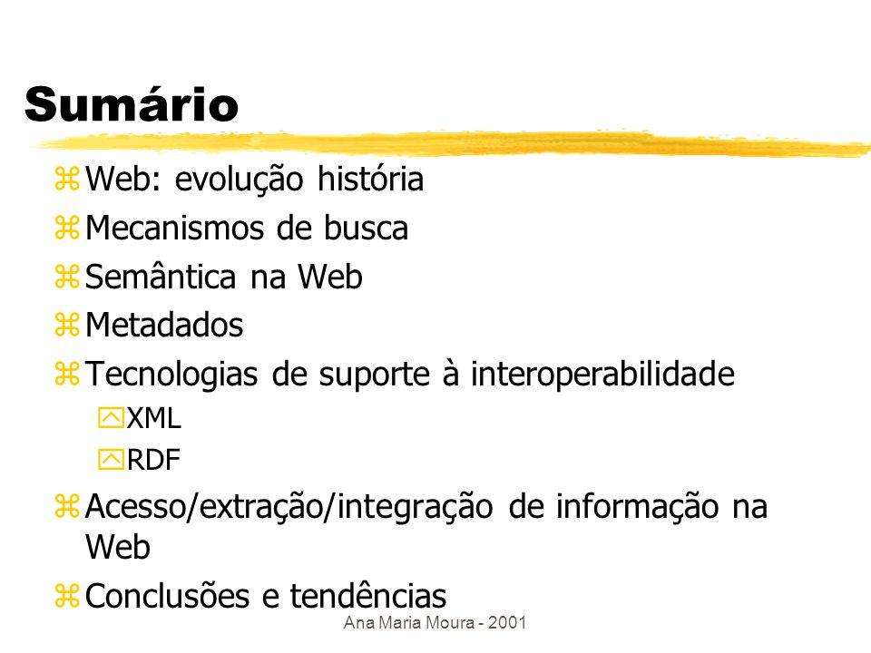 Interoperabilidade e Semântica na Web Ana Maria de Carvalho Moura anamoura@ime.eb.br Instituto Militar de Engenharia - IME Rio de Janeiro - Brasil