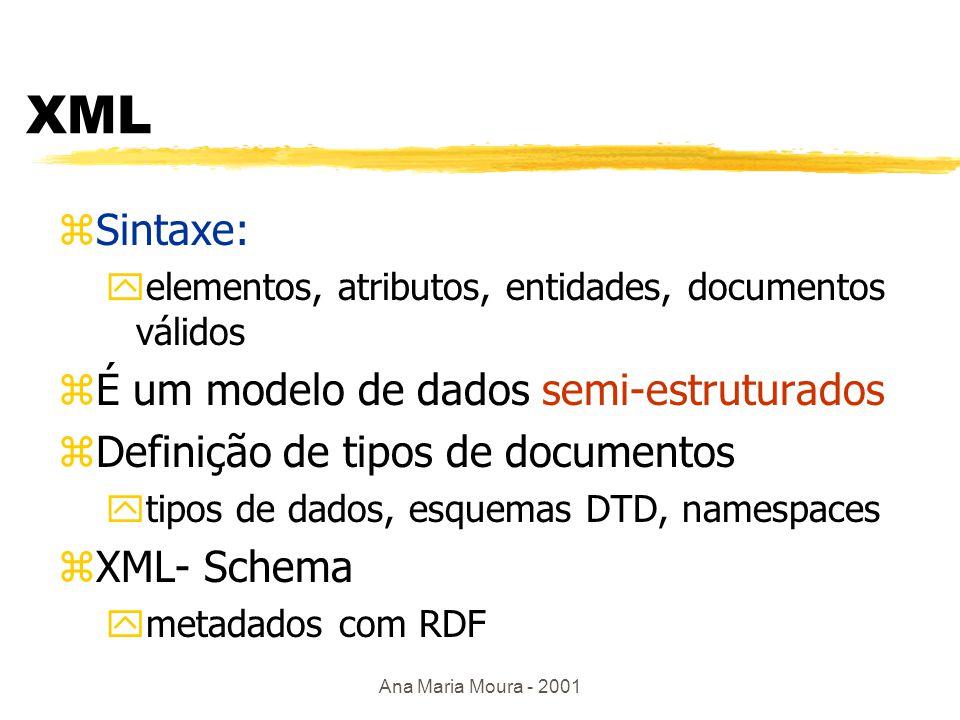 Ana Maria Moura - 2001 Em XML...