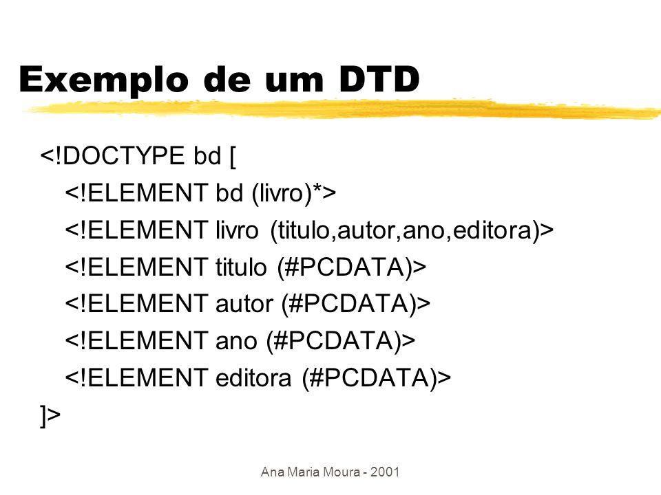 Ana Maria Moura - 2001 DTD bd livro1 livro2livro3 tit autorano …..