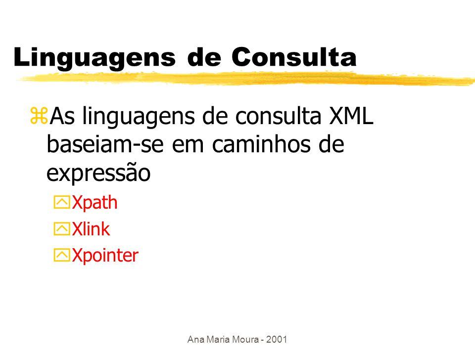 Ana Maria Moura - 2001 Transformação/Formatação Processador XSL WML PDFHTML XMLXSL