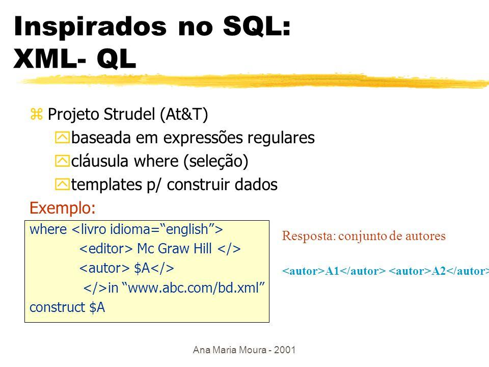 Ana Maria Moura - 2001 XQL zMicrosoft, Texel zuso de Xpath Exemplo 1.
