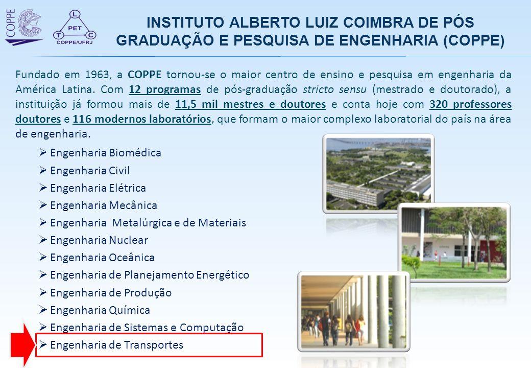 Fundado em 1963, a COPPE tornou-se o maior centro de ensino e pesquisa em engenharia da América Latina. Com 12 programas de pós-graduação stricto sens