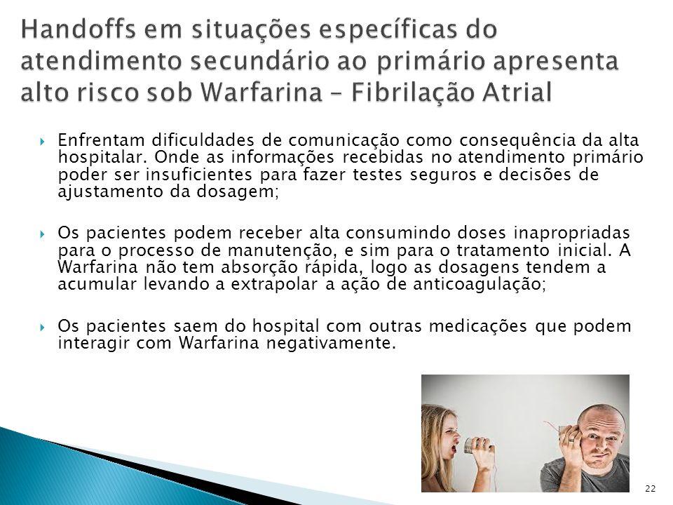  Enfrentam dificuldades de comunicação como consequência da alta hospitalar.