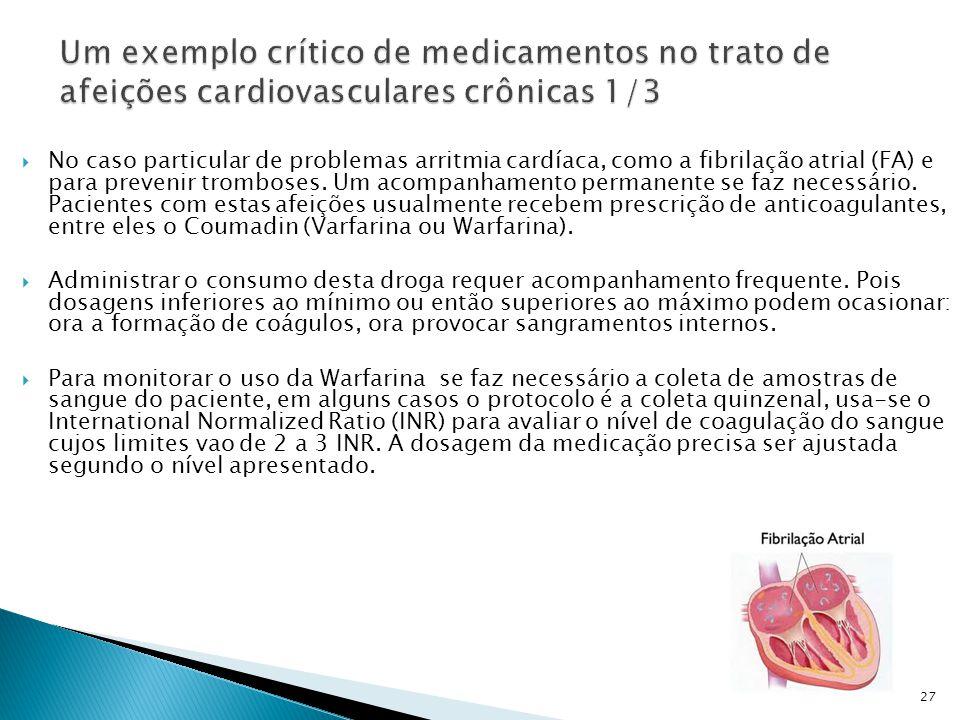  No caso particular de problemas arritmia cardíaca, como a fibrilação atrial (FA) e para prevenir tromboses.