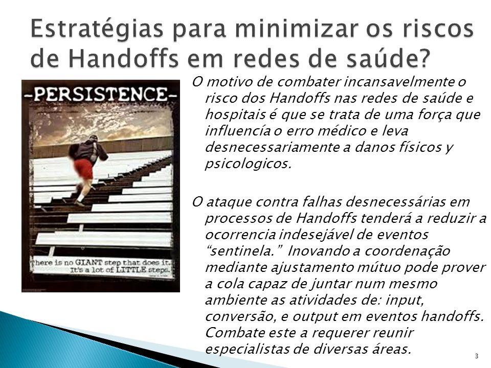 O motivo de combater incansavelmente o risco dos Handoffs nas redes de saúde e hospitais é que se trata de uma força que influencía o erro médico e le