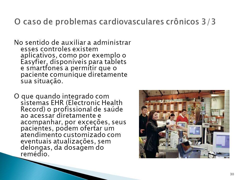 No sentido de auxiliar a administrar esses controles existem aplicativos, como por exemplo o Easyfier, disponíveis para tablets e smartfones a permitir que o paciente comunique diretamente sua situação.