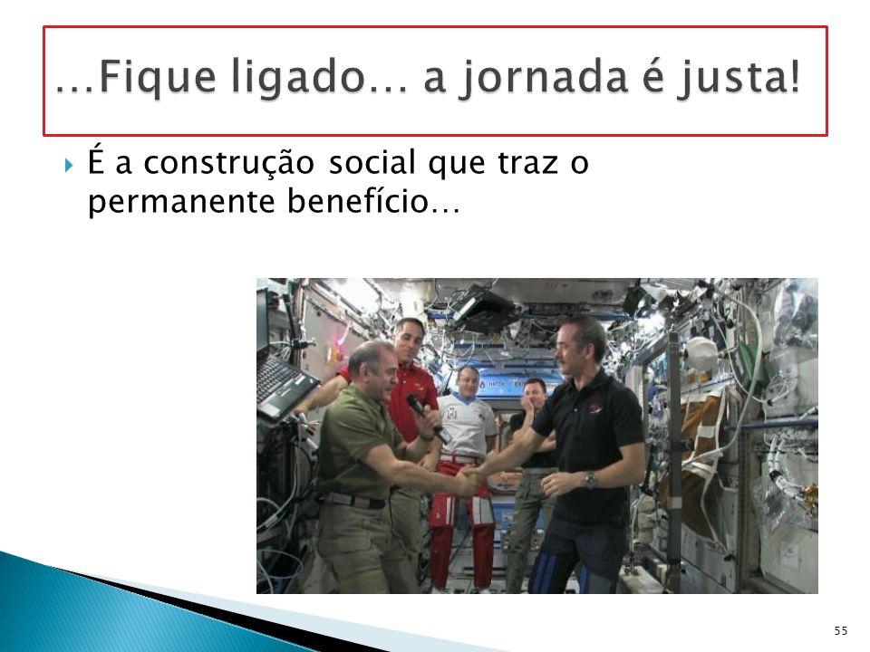  É a construção social que traz o permanente benefício… 55