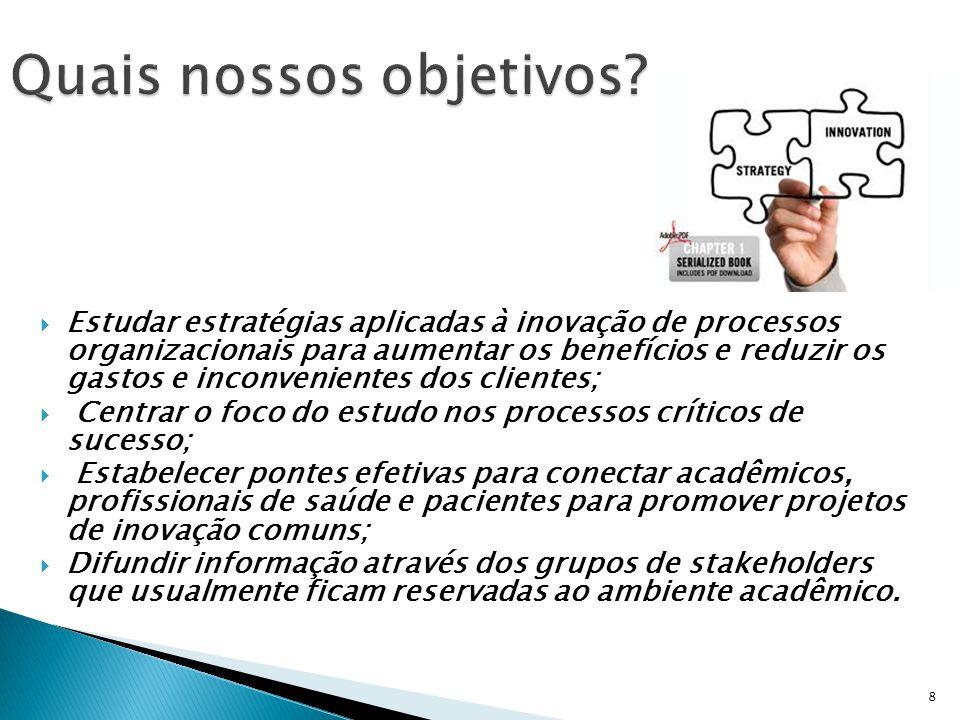  Estudar estratégias aplicadas à inovação de processos organizacionais para aumentar os benefícios e reduzir os gastos e inconvenientes dos clientes;
