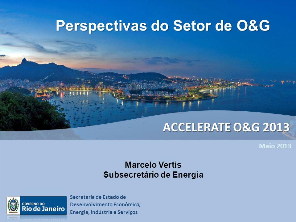 Secretaria de Estado de Desenvolvimento Econômico, Energia, Indústria e Serviços Maio 2013 Marcelo Vertis Subsecretário de Energia Perspectivas do Set