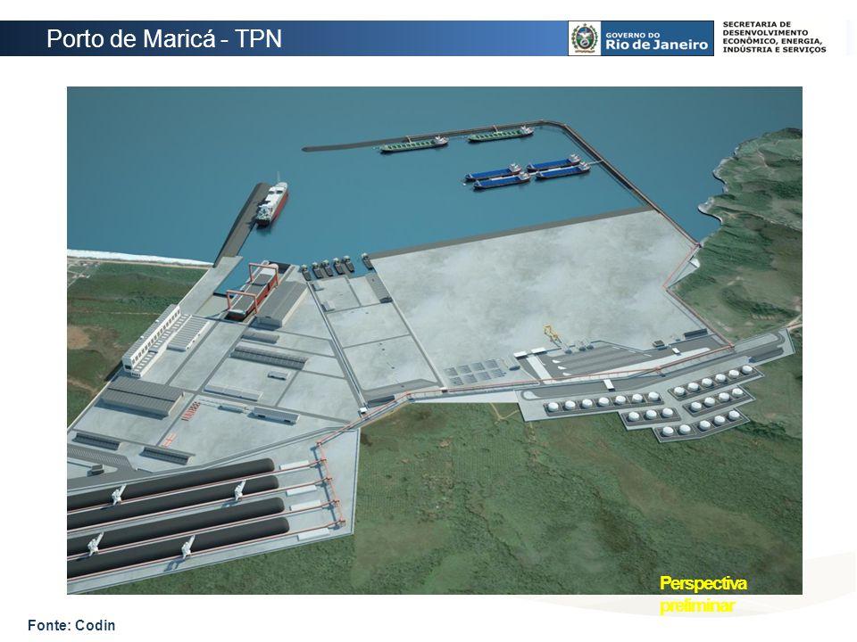 Porto de Maricá - TPN Perspectiva preliminar Fonte: Codin