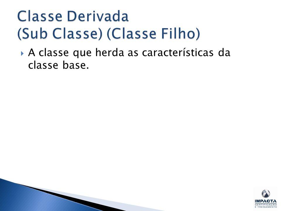  A classe que herda as características da classe base.