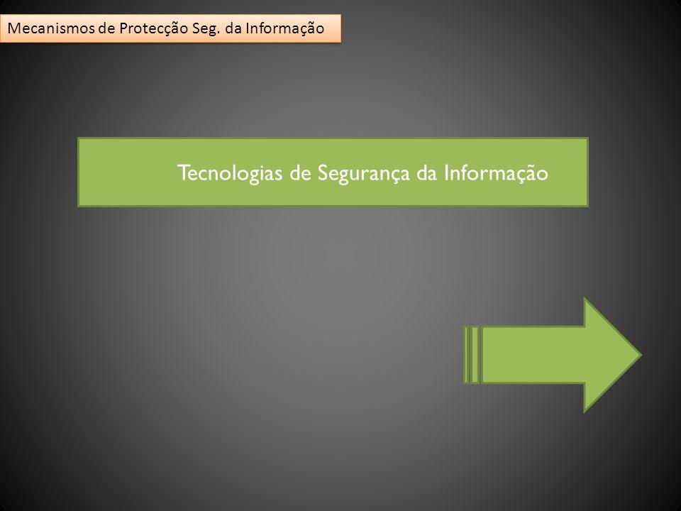 Tecnologias de Segurança da Informação Mecanismos de Protecção Seg. da Informação