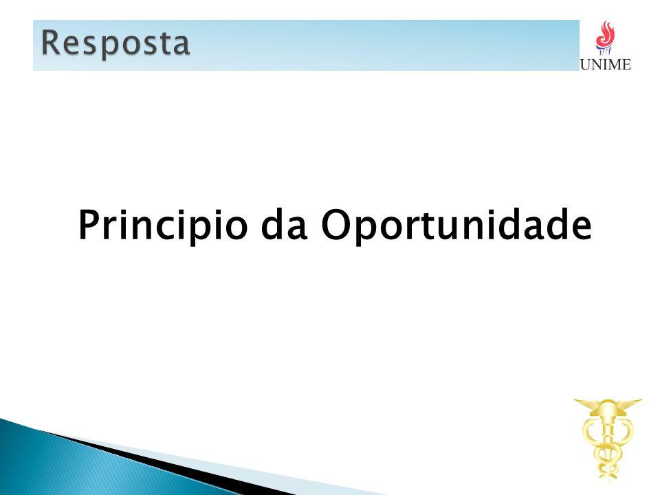 Principio da Oportunidade