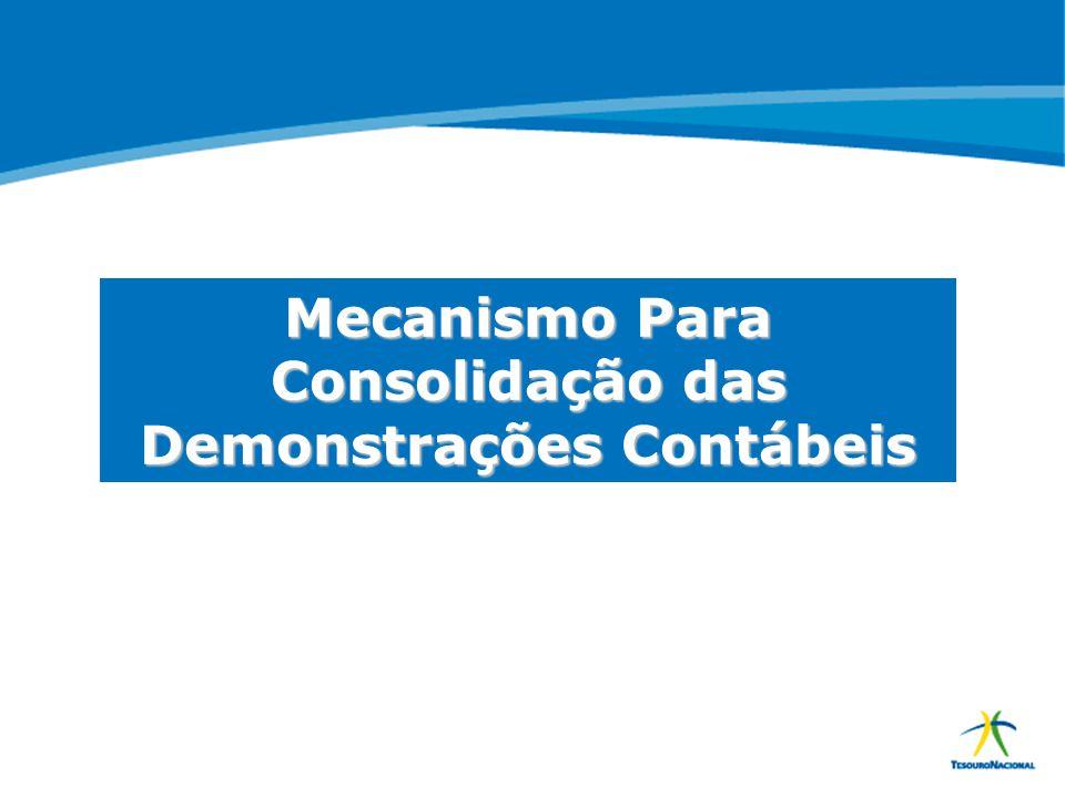 ABOP Slide 11 XI Semana de Administração Orçamentária, Financeira e de Contratações Públicas Mecanismo Para Consolidação das Demonstrações Contábeis