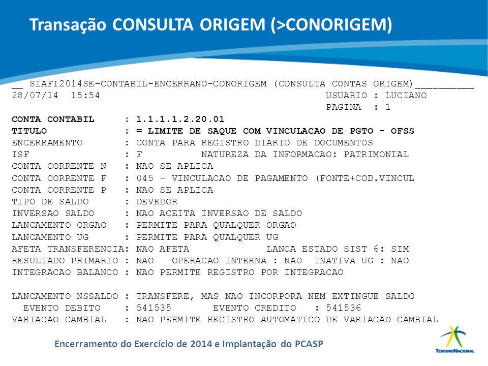 ABOP Slide 114 XI Semana de Administração Orçamentária, Financeira e de Contratações Públicas Encerramento do Exercício de 2014 e Implantação do PCASP