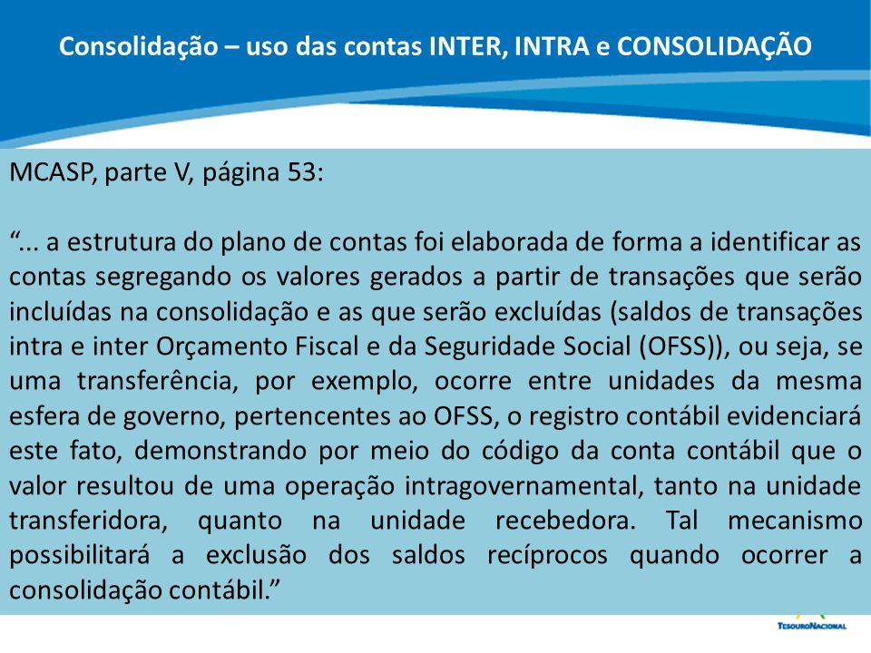 """ABOP Slide 12 XI Semana de Administração Orçamentária, Financeira e de Contratações Públicas MCASP, parte V, página 53: """"... a estrutura do plano de c"""