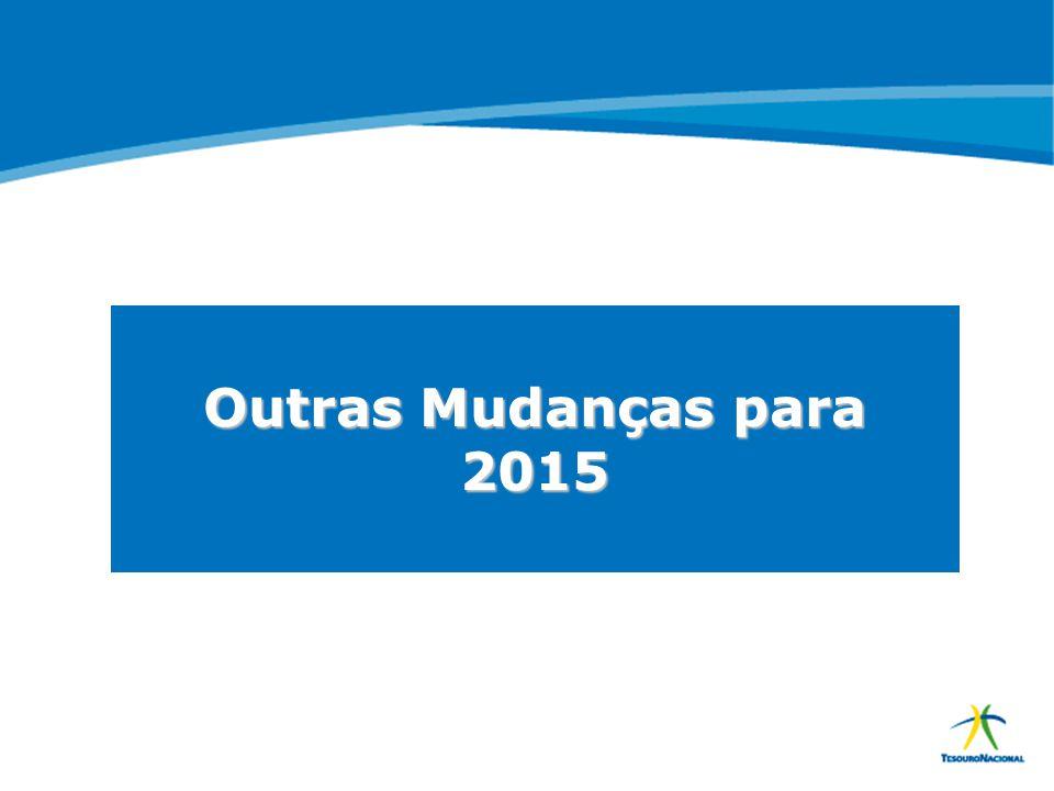 ABOP Slide 147 XI Semana de Administração Orçamentária, Financeira e de Contratações Públicas Outras Mudanças para 2015
