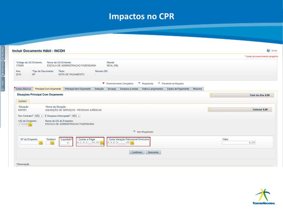 ABOP Slide 152 XI Semana de Administração Orçamentária, Financeira e de Contratações Públicas Impactos no CPR
