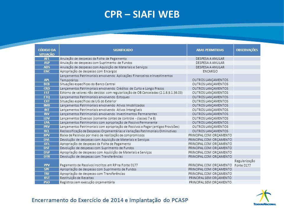 ABOP Slide 154 XI Semana de Administração Orçamentária, Financeira e de Contratações Públicas Encerramento do Exercício de 2014 e Implantação do PCASP