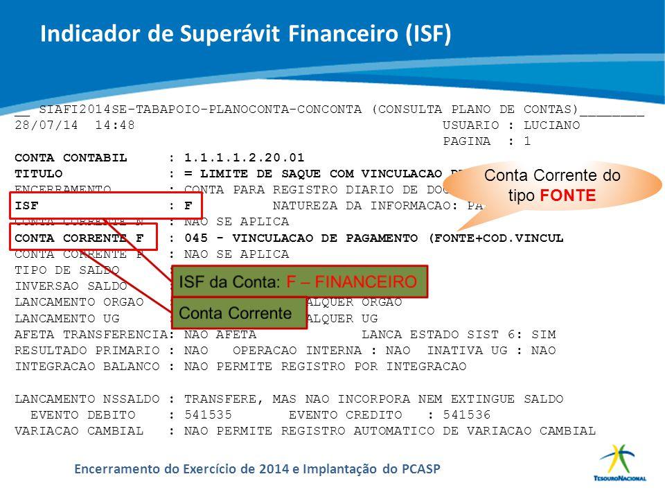 ABOP Slide 44 XI Semana de Administração Orçamentária, Financeira e de Contratações Públicas Encerramento do Exercício de 2014 e Implantação do PCASP