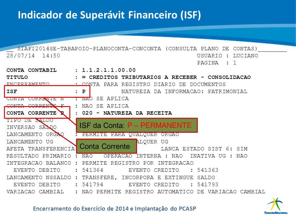 ABOP Slide 45 XI Semana de Administração Orçamentária, Financeira e de Contratações Públicas Encerramento do Exercício de 2014 e Implantação do PCASP
