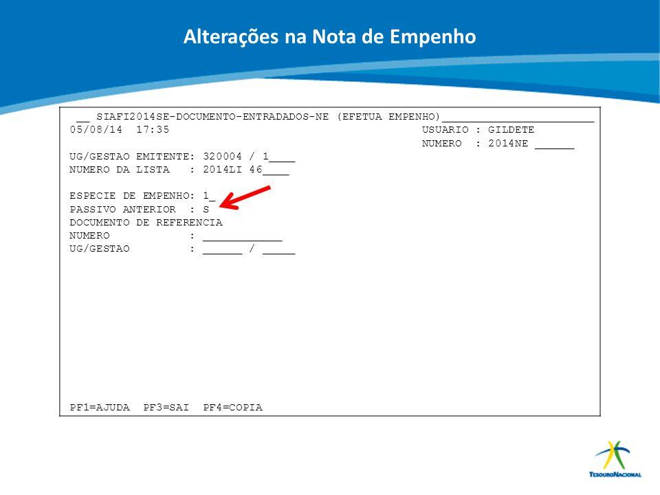 ABOP Slide 62 XI Semana de Administração Orçamentária, Financeira e de Contratações Públicas __ SIAFI2014SE-DOCUMENTO-ENTRADADOS-NE (EFETUA EMPENHO)__