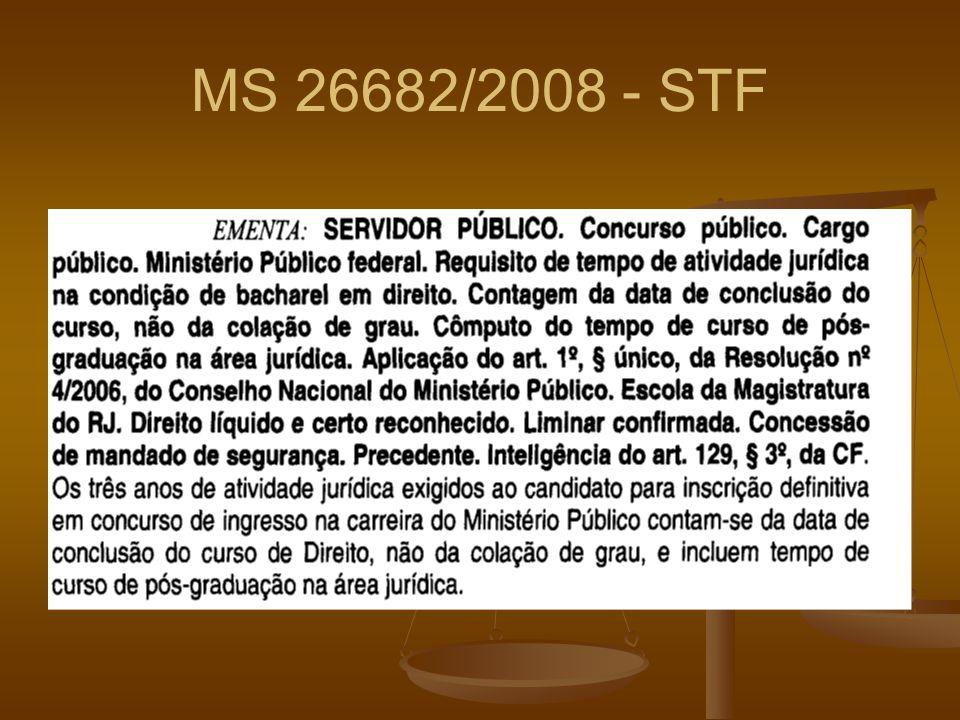 MS 26682/2008 - STF