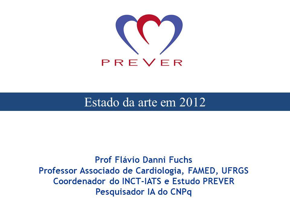 Prof Flávio Danni Fuchs Professor Associado de Cardiologia, FAMED, UFRGS Coordenador do INCT-IATS e Estudo PREVER Pesquisador IA do CNPq Estado da art