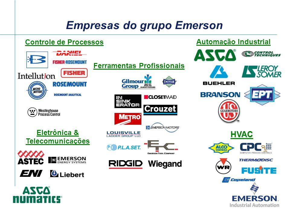 Eletrônica & Telecomunicações Ferramentas Profissionais Controle de Processos Automação Industrial Empresas do grupo Emerson HVAC