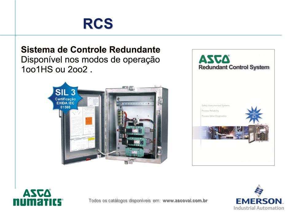 RCSRCS Todos os catálogos disponíveis em: www.ascoval.com.br