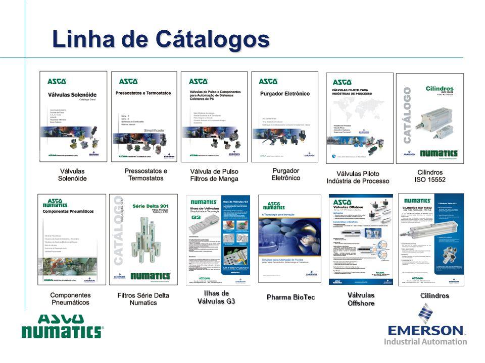 Linha de Cátalogos Ilhas de Válvulas G3 Pharma BioTec Válvulas Offshore Cilindros