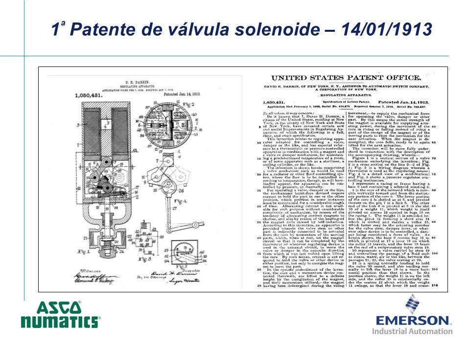 1 ª Patente de válvula solenoide – 14/01/1913