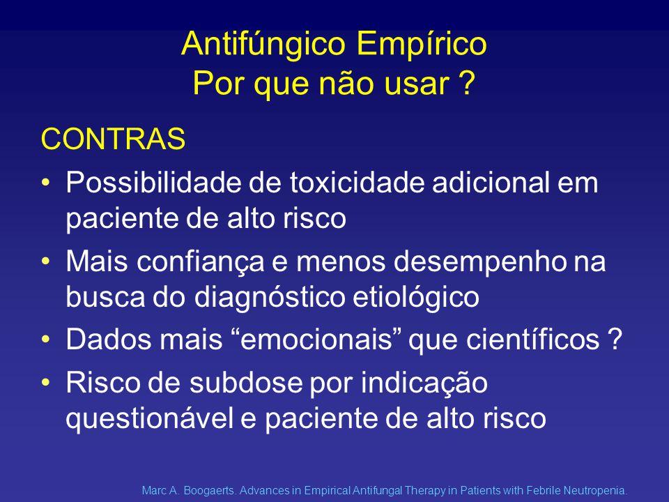 Antifúngico Empírico Por que não usar .