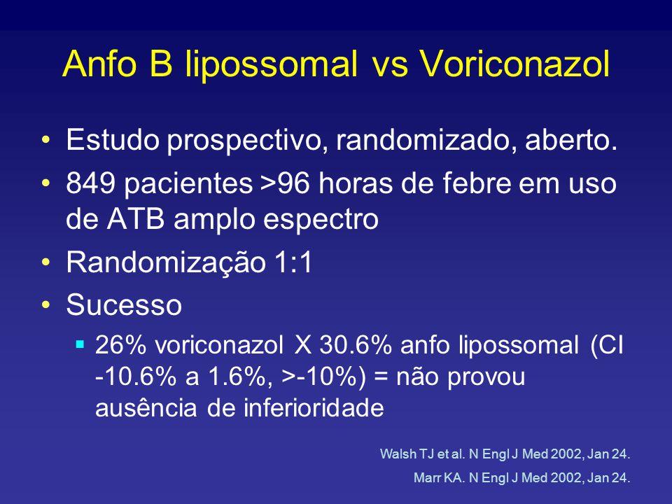 Anfo B lipossomal vs Voriconazol Estudo prospectivo, randomizado, aberto.