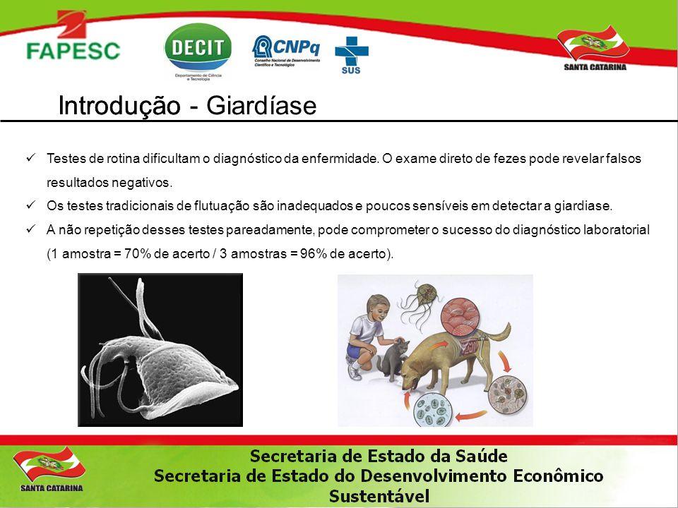 Impactos do Projeto – Científico 1.Primeiro trabalho sobre a genotipagem de Giardia sp no Estado de Santa Catarina.