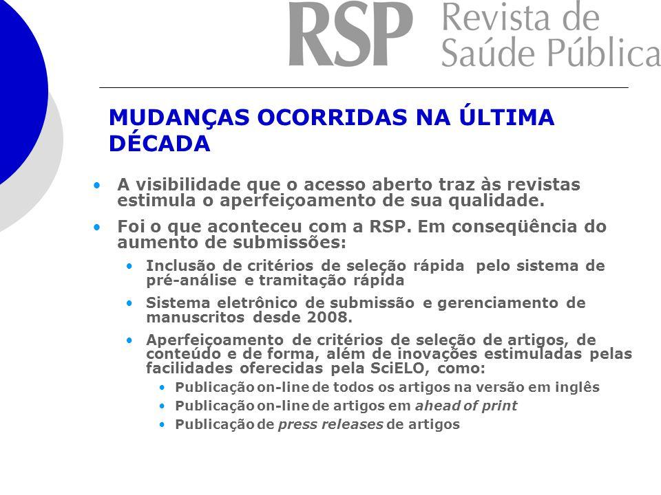 A RSP possui toda a sua coleção, desde 1967, digitalizada e disponível na SciELO.