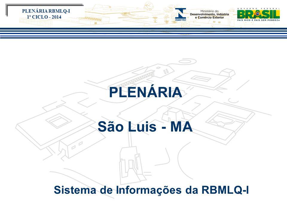 Título do evento PLENÁRIA São Luis - MA Sistema de Informações da RBMLQ-I PLENÁRIA RBMLQ-I PLENÁRIA RBMLQ-I 1º CICLO - 2014