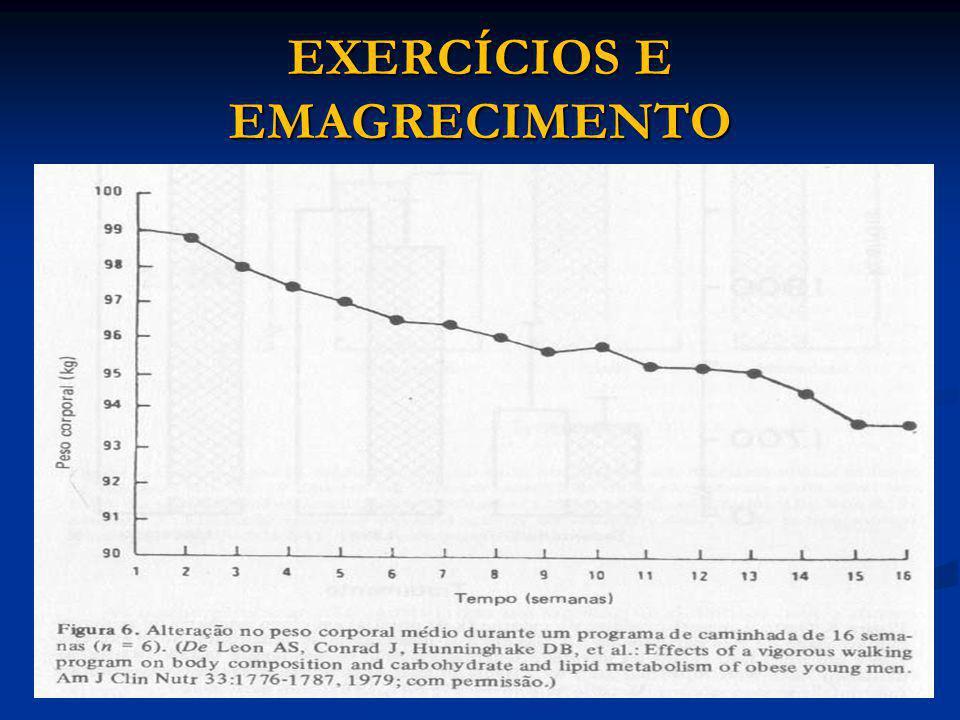 EXERCÍCIOS E EMAGRECIMENTO