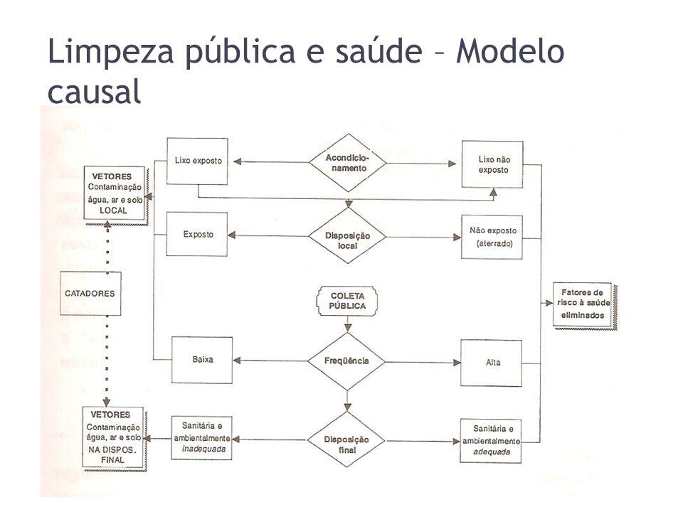 Limpeza pública e saúde – Modelo causal