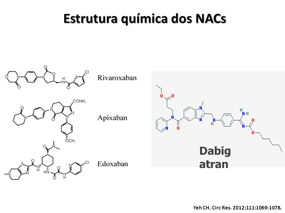 Yeh CH. Circ Res. 2012;111:1069-1078. Estrutura química dos NACs Dabig atran