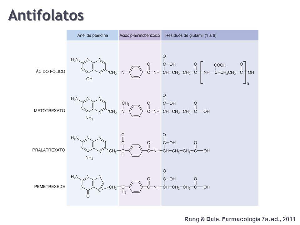 Rang & Dale. Farmacologia 7a. ed., 2011 Antifolatos