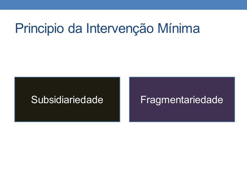 Principio da Intervenção Mínima SubsidiariedadeFragmentariedade