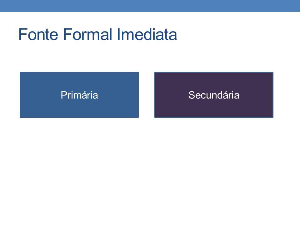 Fonte Formal Imediata PrimáriaSecundária