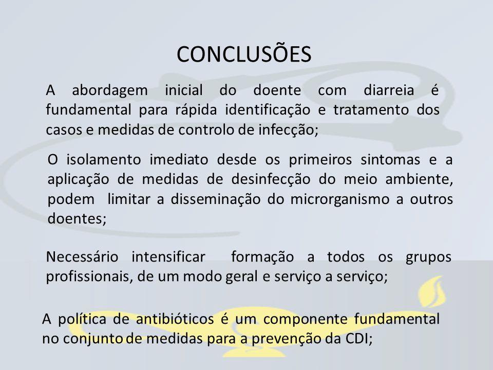 A abordagem inicial do doente com diarreia é fundamental para rápida identificação e tratamento dos casos e medidas de controlo de infecção; Necessári